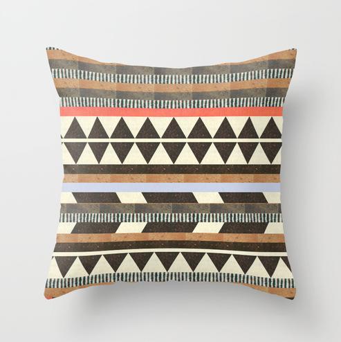 1. Aztec cushion, around €15, Society6.