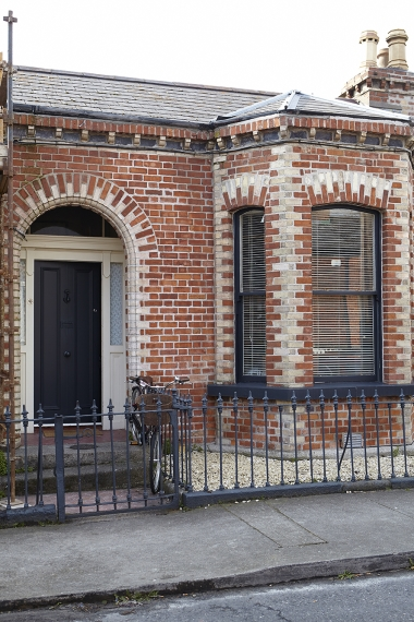 Jemma's house is situated on a quiet street in Dublin's Portobello.
