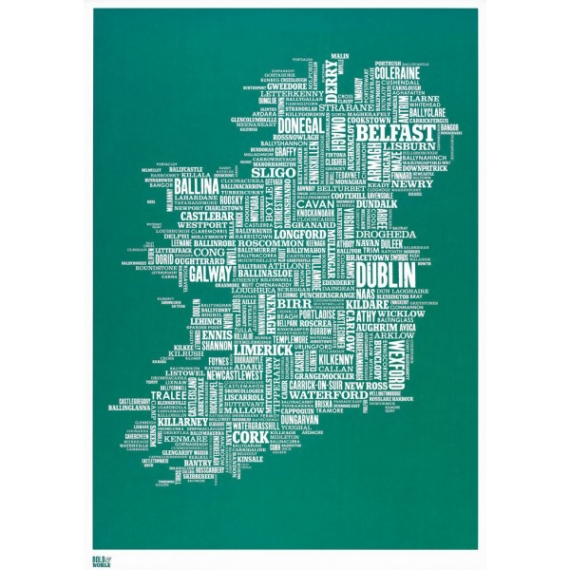 1. Bold and Noble screen print of Ireland, €55, Article