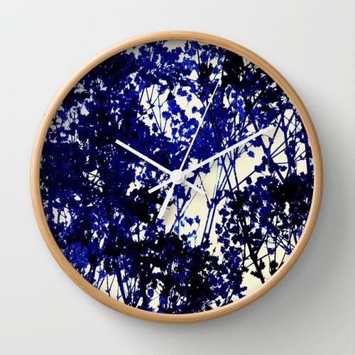 1. Autumn Indigo wall clock, around €22, Society6
