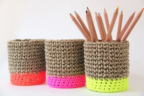 1. Covered pot with neon base, €28.38 each, Etsy