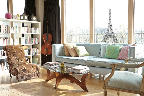 Living room mismatched chairs