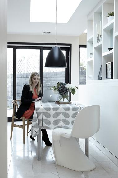 Woman at kichen table