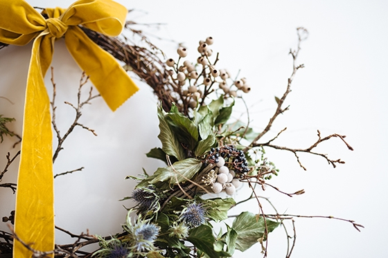 Yellow ribbon wreath