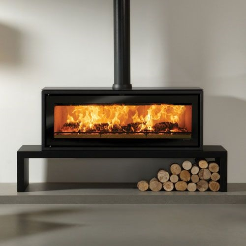 Riva wood-burning stove by Stovax