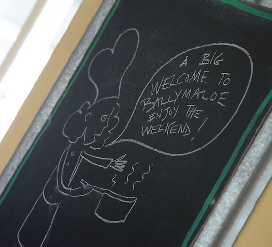 Welcome to Ballymaloe chalkboard
