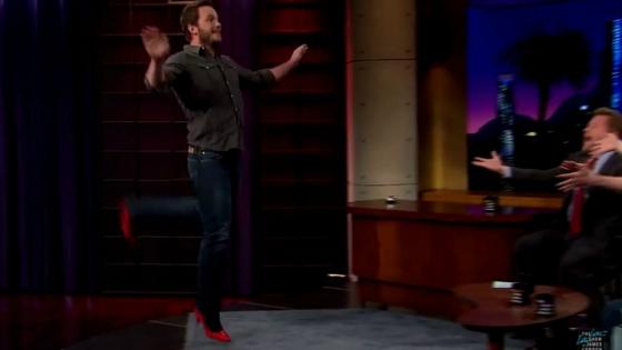 Watch: Chris Pratt Can Run In High Heels