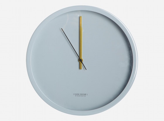 House Doctor Couture clock in grey, €79.95, Living and Company