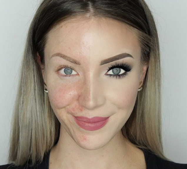 makeup free selfie