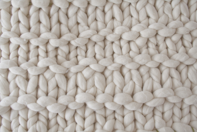 Ivory Stripes blanket from Knitting Noodles - image.ie