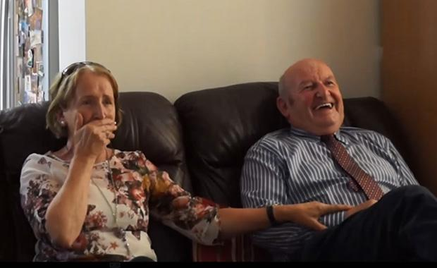 Irish grandparents get the surprise of their life when they meet their 11-year-old grandson Niall for the first time.
