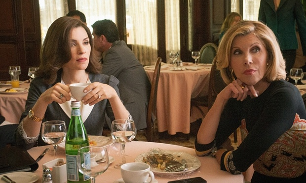 women working with men stress the good wife image