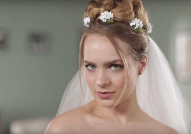 90s bridal hair