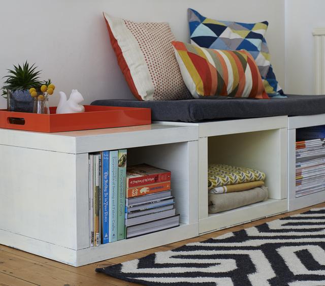 DIY reading nook furniture hack