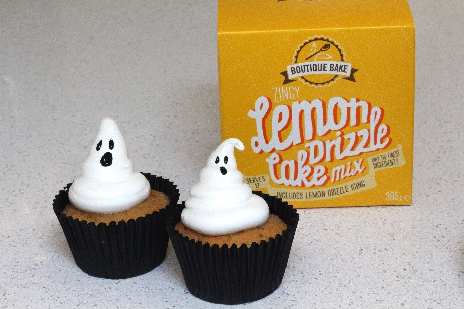 Ghostly Lemon Drizzle Cupcakes