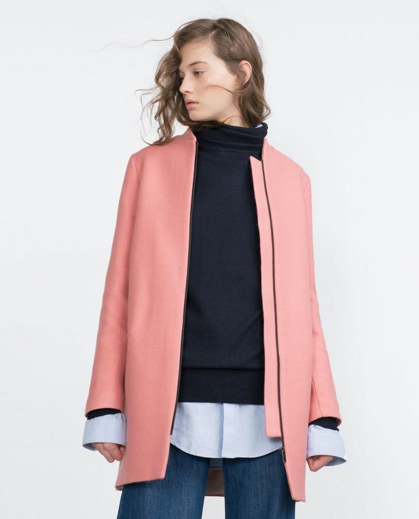 Zara - Pink wool coat 79.95