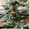 The soft silverly leaves on Eucalyptus branches makes for a gorgeous centrepiece