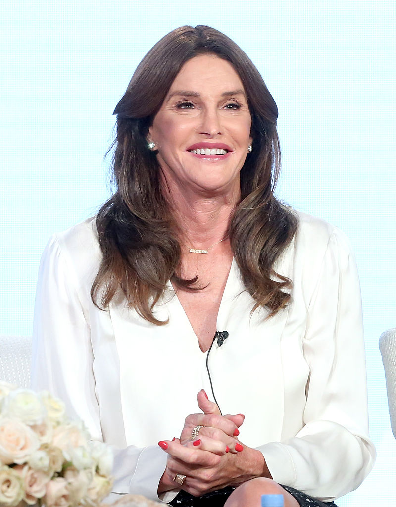 speaks onstage during the 'I Am Cait' panel discussion at the NBCUniversal portion of the 2015 Winter TCA Tou at Langham Hotel on January 14, 2016 in Pasadena, California.